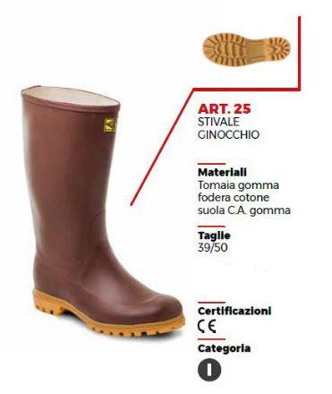STIVALE GINOCCHIO MARRONE CON CARRO ARMATO TG 46
