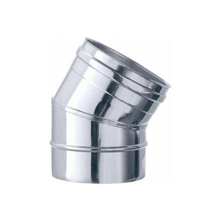 gomito45° acciaio inox finitura lucida 3 settori ø14cm