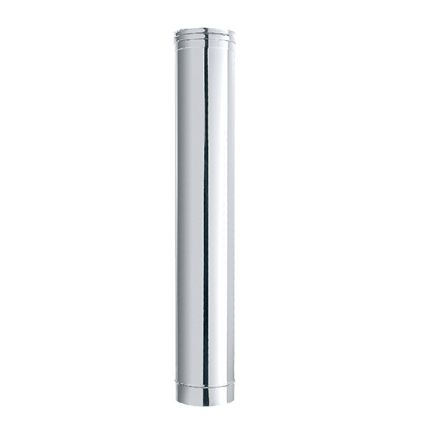 tubo acciaio inox finitura lucida ø 10x100cm