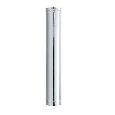 tubo acciaio inox finitura lucida ø 13x50cm