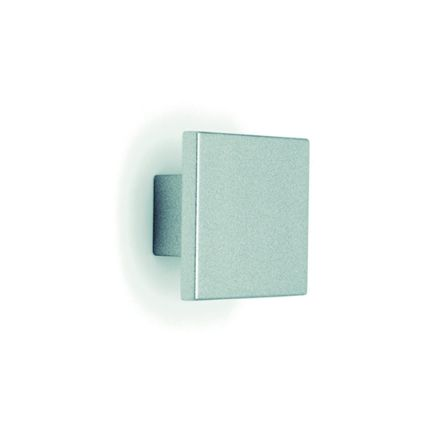 pomolo 022q 30x30 con vite  alluminio   per cassetti, comodini, armadi
