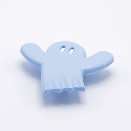 maniglia fantasmino con vite  goffratto  azzurro   per cassetti, comodini, armadi