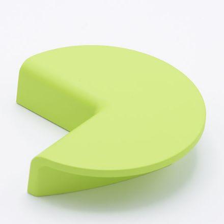 maniglia poliplast 321 con vite  goffratto verde    per cassetti, comodini, armadi