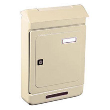 """Immagine di Alubox cassetta postale per esterno """"uno maxi"""" colore avorio l. 26,3 x h. 39,5 x p. 7 cm"""