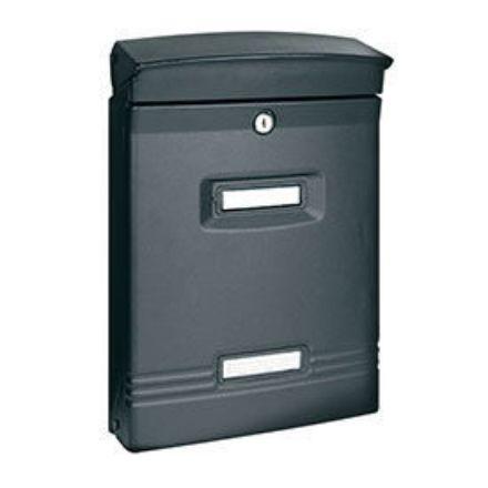 """Immagine di Alubox cassetta postale per esterno """"ibiza"""" l. 25,8 x h. 37,5 x p. 10,5 cm"""