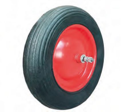 Ruota per carriola pneumatica perno corto 16 cm