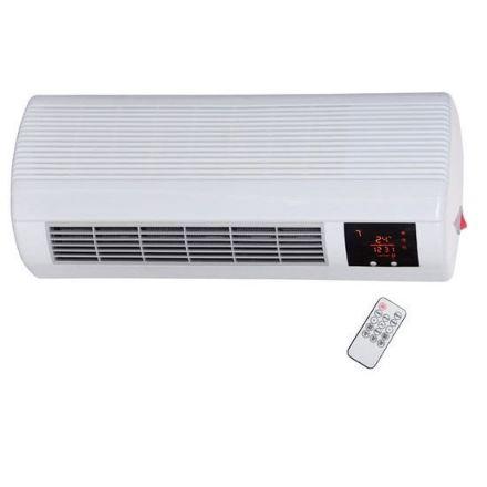 Termoconvettore termoventilatore ceramico split da parete con telecomando, potenza 1000/2000 w