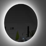 Immagine di specchio filo lucido con led perimetrale 60 cm