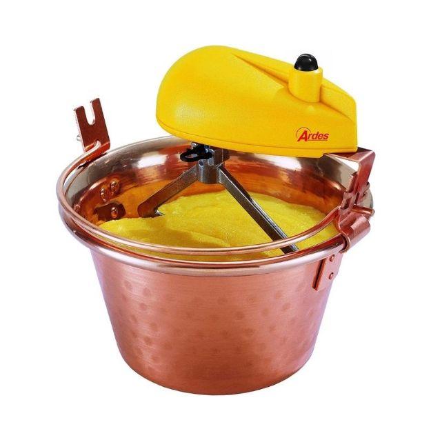 Immagine di Ardes AR2460 Paiolo elettrico in rame per polenta e marmellata porzioni per 4/7 persone  Ø 26 cm